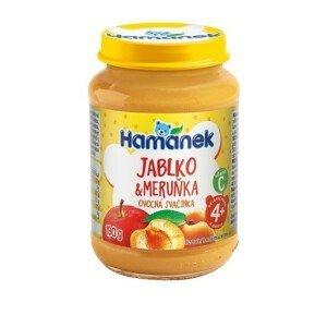 Hamánek Jablko+meruňka ovocná svačinka 190g 4m+