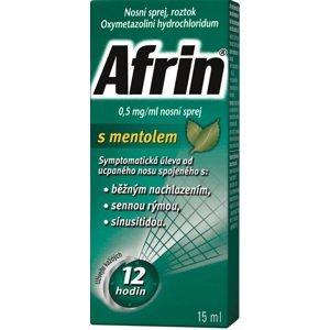 Afrin 0.5mg/ml nosní sprej s mentolem 15ml