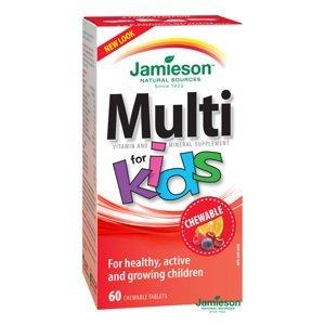 Jamieson Multi Kids multivitamín tablety na cucání pro děti 60 tablet