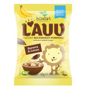 BONITAS  LAUV BIO Pohanková kaše banan + kakao 40g