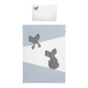 Belisima Baby  2-dílné ložní povlečení Belisima Mouse 100/135 modré