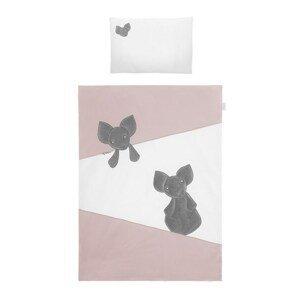 Belisima Baby  2-dílné ložní povlečení Belisima Mouse 100/135 růžové