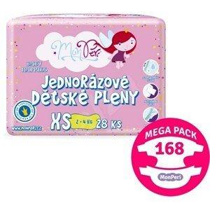 MonPeri Klasik Mega Pack XS 2–4kg Eko Jednorázové dětské pleny 168ks