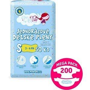 MonPeri Klasik Mega Pack S 3-6kg Eko Jednorázové dětské pleny 200ks