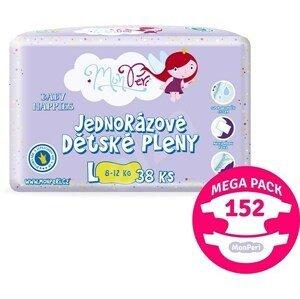MonPeri Klasik Mega Pack L 8–12kg Eko Jednorázové dětské pleny 152ks