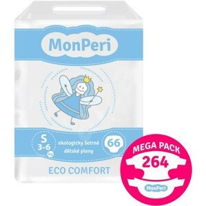 MonPeri Eco Comfort Mega pack S 3–6kg Eko Jednorázové dětské plenky 264ks