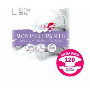 MonPeri Pants Mega Pack L 8–14kg Eko Jednorázové plenkové kalhotky 120ks