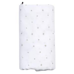 Motherhood  Plenka mušelínová BIO XXL Grey Dots 130x130cm
