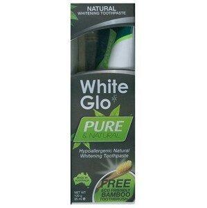 White Glo natural 120g + bambusový kartáček
