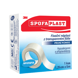 3M Spofaplast 431 Fixační náplast z transparentní folie 5mx12.5mm