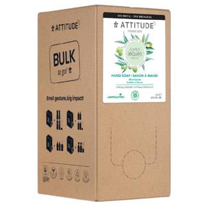 Attitude Přírodní mýdlo na ruce Super leaves s detoxikačním účinkem, olivové listy náhradní kanystr 2l