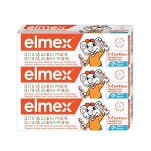 elmex Kids zubní pasta pro děti od prvního zoubku do 6ti let 3x50 ml