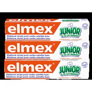 Elmex Junior zubní pasta pro děti ve věku 6-12 let 3 x 75ml