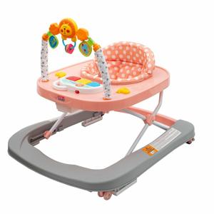 New Baby Dětské chodítko se silikonovými kolečky Forest Kingdom Pink