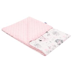 New Baby dětská deka z Minky Medvídci růžová 80x102cm