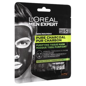 L'Oréal Paris Men Expert Pure Charcoal textilní maska 32g