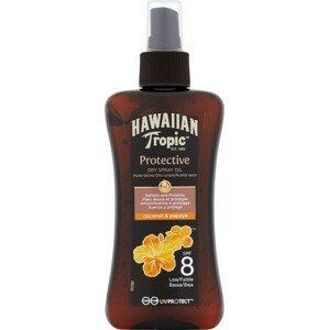 Hawaiian Tropic suchý olej na opalování SPF 8 Protective 200ml