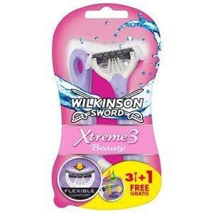 Wilkinson Sword Xtreme3 Beauty - Jednorázový holicí strojek 3+1ks