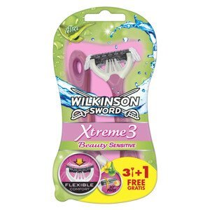 Wilkinson Sword Xtreme3 Beauty Sensitive - Jednorázový holicí strojek 3+1ks