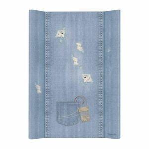 CEBA Podložka přebalovací měkká 2hranná 70x50cm Denim Style Shabby blue Ceba