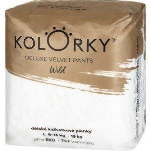 Kolorky Deluxe Velvet Pants Jednorázové kalhotkové eko plenky - wild - L (8-13 kg) 19ks