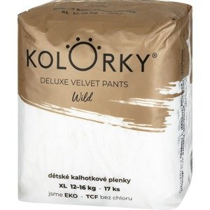 Kolorky Deluxe Velvet Pants Jednorázové kalhotkové eko plenky - wild - XL (12-16 kg) 17ks