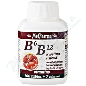 MedPharma B6 B12+kyselina listová 107 tablet
