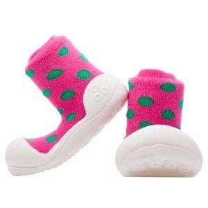 Attipas Dětské Botičky Polka Dot Pink M