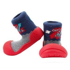 Attipas Dětské Botičky Dinosaur Red M
