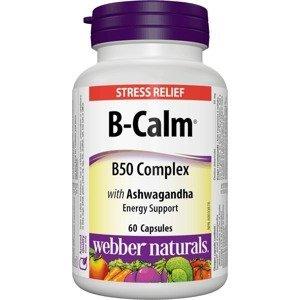 Webber Naturals B-Calm B50 Complex s Ashwagandou 60 kapslí