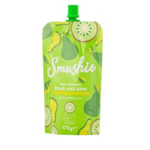 Salvest Smushie BIO Ovocné smoothie s hruškou, kiwi a spirulinou 170g