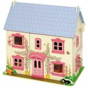 Bigjigs Toys Růžový domek pro panenky