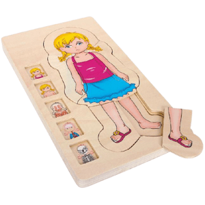 Small foot by Legler  Small Foot Dřevěné puzzle anatomie