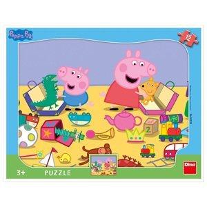 Dino Deskové puzzle Peppa pig si hraje 12 dílků