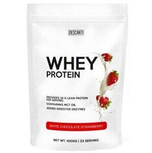DESCANTI Whey Protein Bílá čokoláda, jahoda 500g