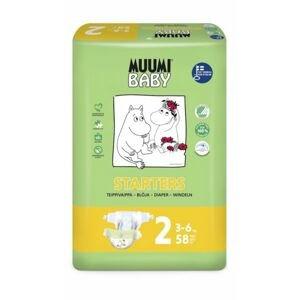 Muumi Baby  Plenky jednorázové 2 Mini 3-6kg 58ks Baby Muumi