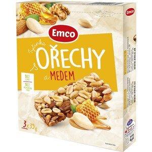 Emco Tyčinka Ořechy a med 3x35g