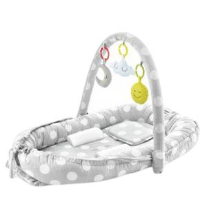 BabyJem Hnízdečko Between Parents Baby Bed Grey