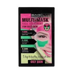 BeautyFormulas  Beauty Formulas Třízónová pleťová maska pro mastnou pleť 3x5g