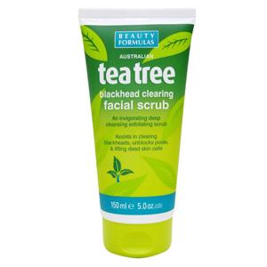 BeautyFormulas  Beauty Formulas Tea tree pleťový scrub na černé tečky 150ml