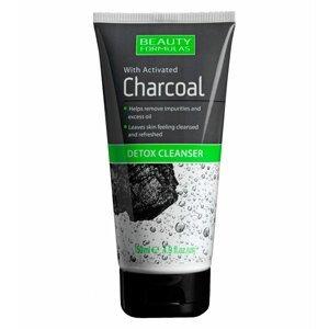 BeautyFormulas  Beauty Formulas Detoxikační čistící gel s aktivním uhlím 150ml