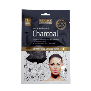 BeautyFormulas  Beauty Formulas Detoxikační bublinková maska s aktivním uhlím 1ks