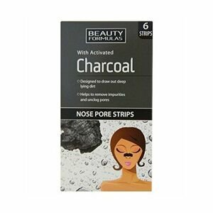 BeautyFormulas  Beauty Formulas Čistící pásky na nos s aktivním uhlím 6ks