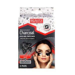 BeautyFormulas  Beauty Formulas Gelové náplasti pod oči s aktivním uhlím 6 párů