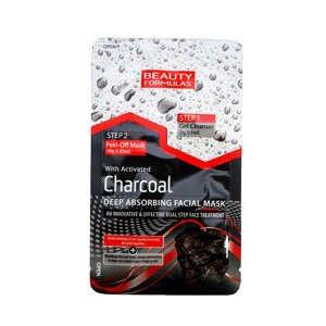 BeautyFormulas  Beauty Formulas Čistící gel a slupovací maska s aktivním uhlím 2v1 1ks