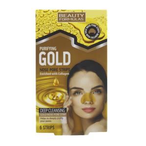 BeautyFormulas  Beauty Formulas Zlaté čistící pásky na nos 6ks