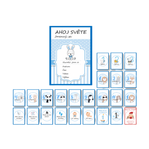 KidPro Milníkové kartičky Zajíček pro chlapečka CZ