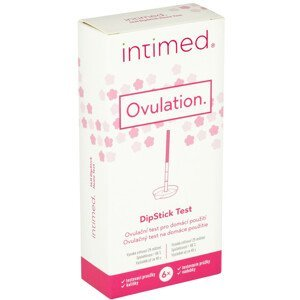 Intimed Ovulation hLH dipStick ovulační test pro domácí použití s kalíšky 6 ks