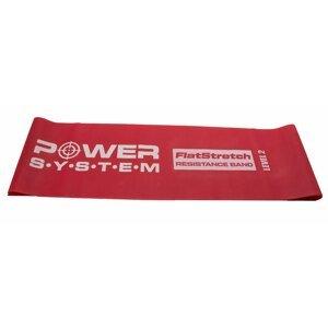 Power System odporová guma FLAT STRETCH BAND LEVEL 2 Červená