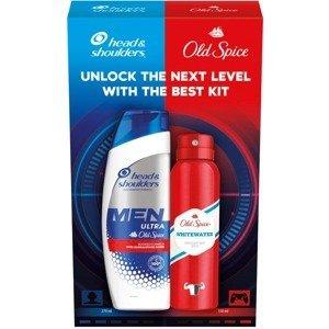 Vánoční sada Head & Shoulders šampon Men ultra + Old Spice Whitewater deodorant